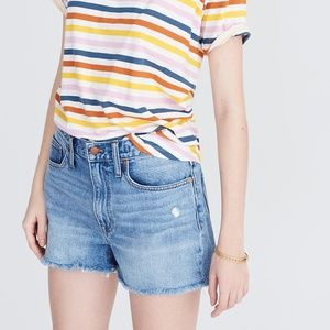 Madewell The Dadjean Denim Cutoff Shorts 29